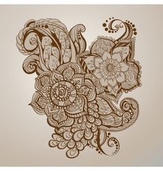 Hand- drawn henna tattoo art vector