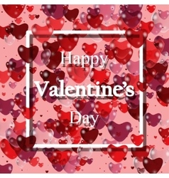 Happy valentines day Pink Background with vector image vector image