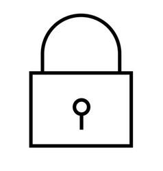 Locked icon vector