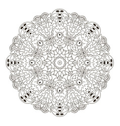 Mandala zentangl round ornament relax coloring vector