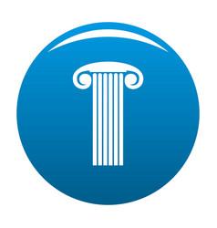 Marble column icon blue vector