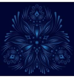 ornamental floral element Vintage style vector image vector image
