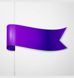 Realistic shiny indigo ribbon isolated vector