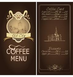 Restaurant old city menu template vector image vector image