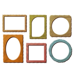 Retro photo frames set vector image vector image