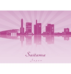 Saitama skyline in purple radiant orchid vector image vector image