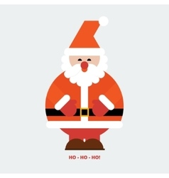 Santa claus greeting card vector