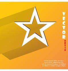 star web icon flat design vector image vector image
