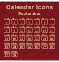 The calendar icon september symbol flat vector