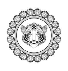 Tiger icon animal and ornamental predator design vector