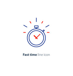 time limit concept fast delivery services linear vector image vector image