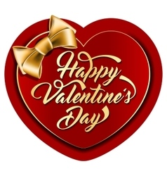 Valentine card with the inscription vector image vector image