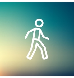 Waliking exercise thin line icon vector