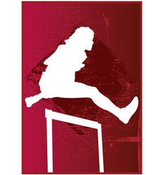 Woman hurdling vector image