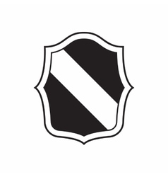 Army shield for war icon simple style vector