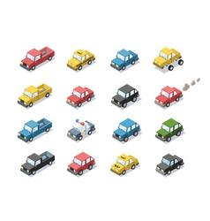 Isometric set of city passenger transport vector