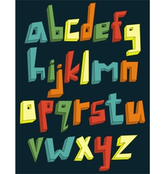 colorful 3d lower case alphabet vector image