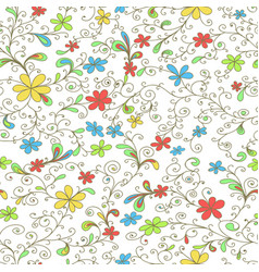 Floral seamless pattern for wallpaper background vector