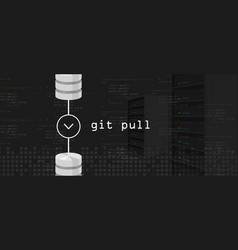 Git pull request programming coding server and vector