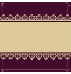 Background with antique design elements vector