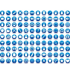 Blue icons vector