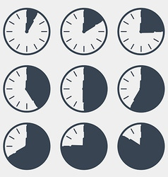 Clock - time countdown set vector