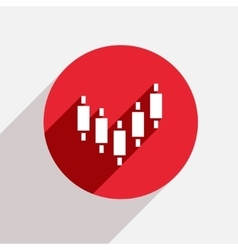 Modern binary options red circle icon vector