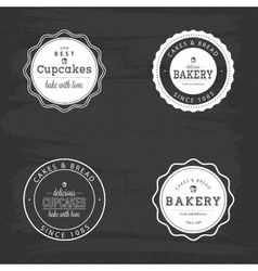 Bakery food labels vector