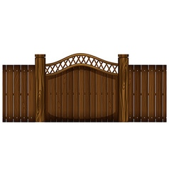 Wooden fence and doorway vector
