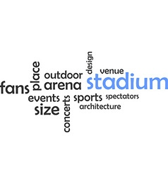 Word cloud stadium vector