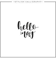 Hello may time of year phrase in english vector