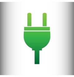 Socket sign green gradient icon vector