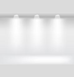 White showcase gallery vector