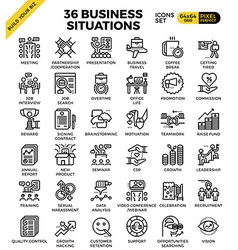 Business situation icons vector