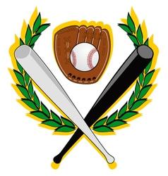 baseball symbol vector image vector image