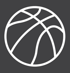 Basketball ball line icon sport and game vector