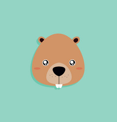 Cartoon beaver face vector