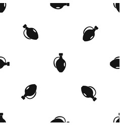 clay jug pattern seamless black vector image vector image