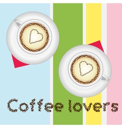 Coffee lovers card vector image vector image