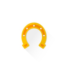 color flat style horseshoe luck sign icon vector image