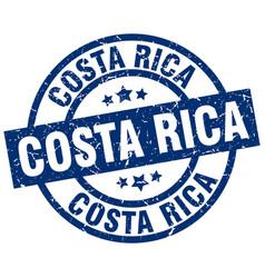 Costa rica blue round grunge stamp vector