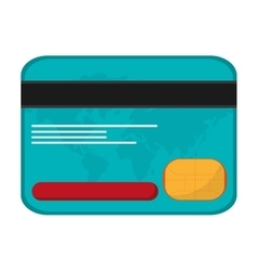Credit card money business icon vector