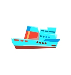 Cruise Liner Toy Boat vector image vector image