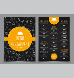 design a menu for a cafe or restaurant vector image