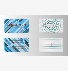 eps10 abstract elegant business cards templates vector image vector image