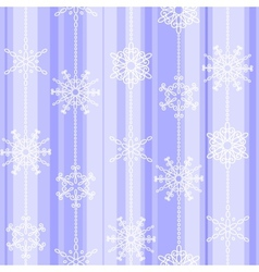 Flake winter seamless pattern vector image vector image