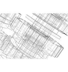 Gearbox sketch vector