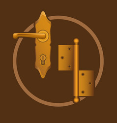 Golden door accessories vector