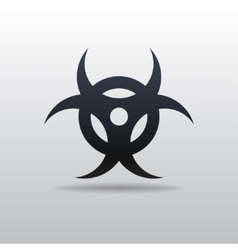 Icon of bio hazard vector