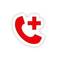 Icon sticker realistic design on paper hotline vector